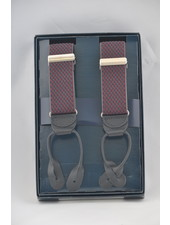 BENCHCRAFT Burgundy Navy Leather Strap Suspender