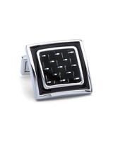 BUGATCHI UOMO Silver Black Cufflink