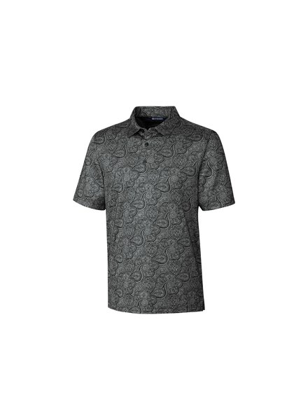 CUTTER & BUCK Grey Paisley Polo