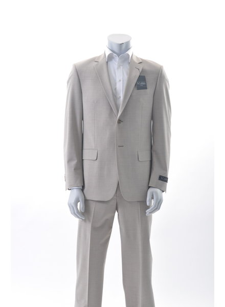 S COHEN Classic Fit Light Tan Suit
