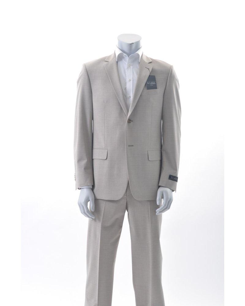 S COHEN Classic Fit Light Tan Suit