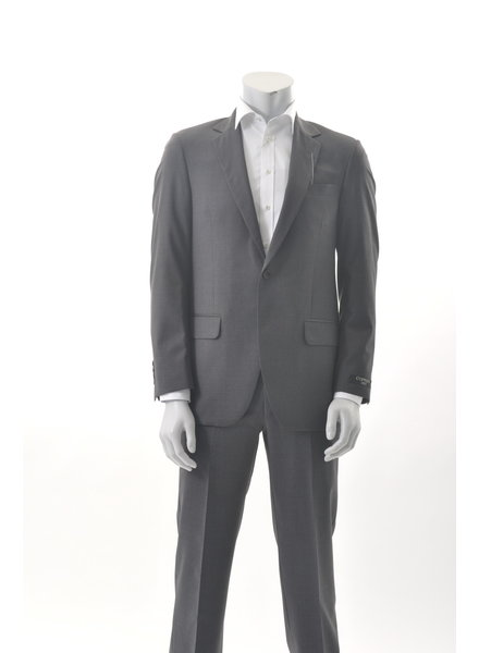 COPPLEY Classic Fit Mid Grey with Tan Mini Block Suit