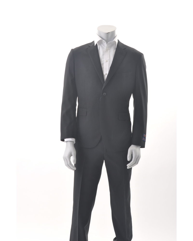 PAUL BETENLY Modern Fit Aria Black Unlined Suit