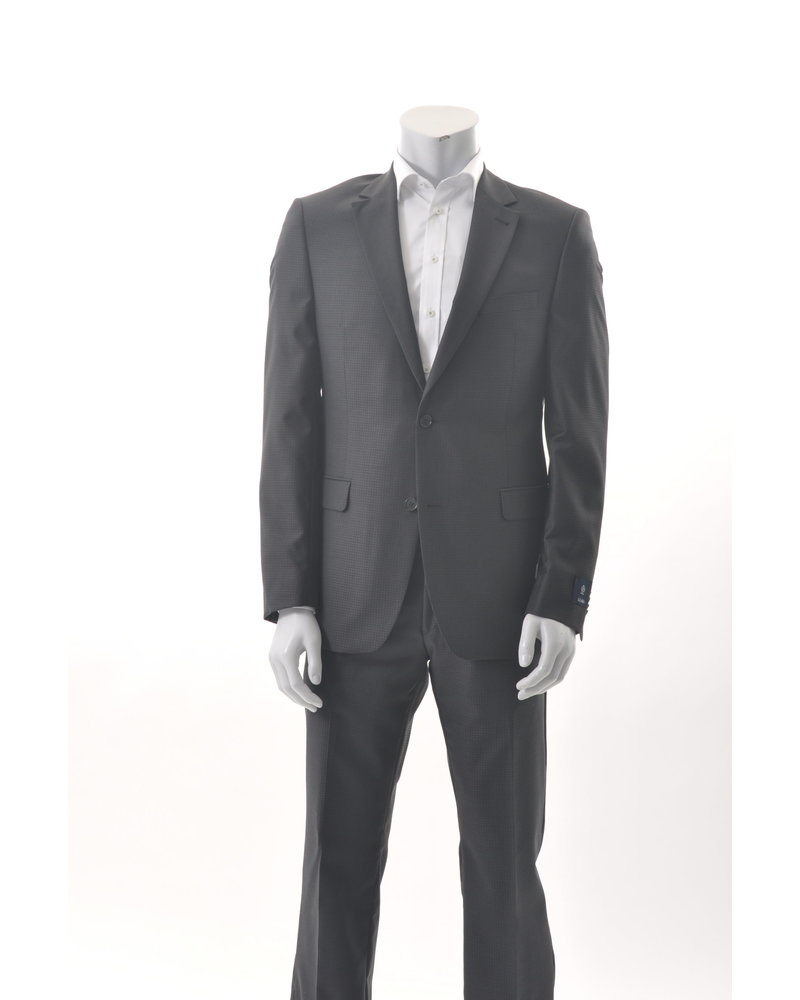 S COHEN Modern Fit Black Tonal Houndstooth Suit