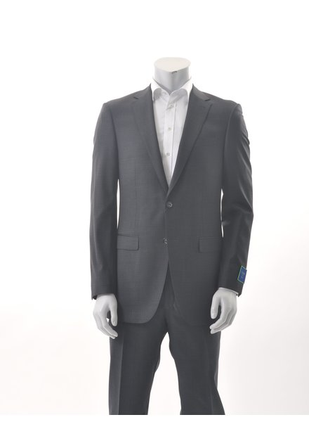 S COHEN Modern Fit Charcoal Black Check Suit