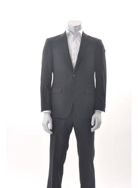 S COHEN Slim Fit Black Plain Suit