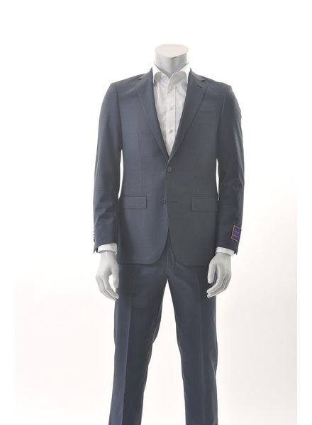 S COHEN Slim Fit Mid Blue Plain  Suit