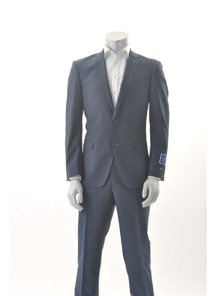 S COHEN Slim Fit Mid Blue with Fleck Suit