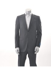 S COHEN Modern Fit Charcoal Burgundy Small Block Suit