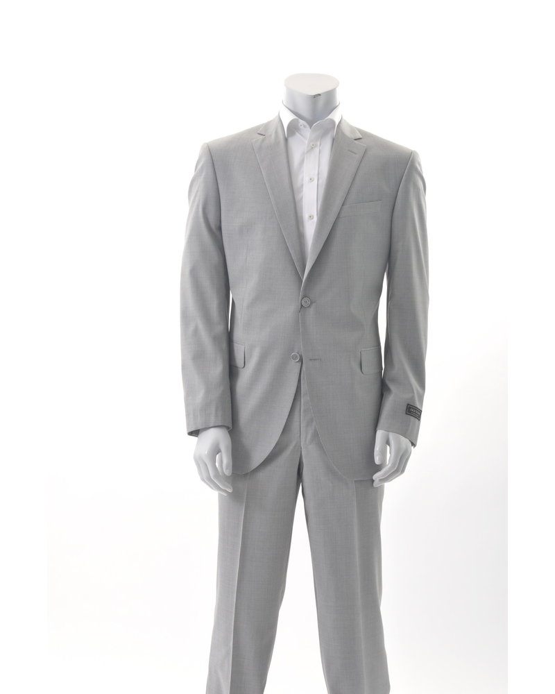 JACK VICTOR Modern Fit Light Grey Neat Pattern Suit