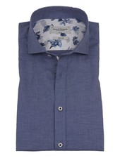 BRUUN & STENGADE Slim Fit Dark Blue Birds Eye Neat
