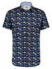 A FISH NAMED FRED Modern Fit Sombrero Navy SS Shirt