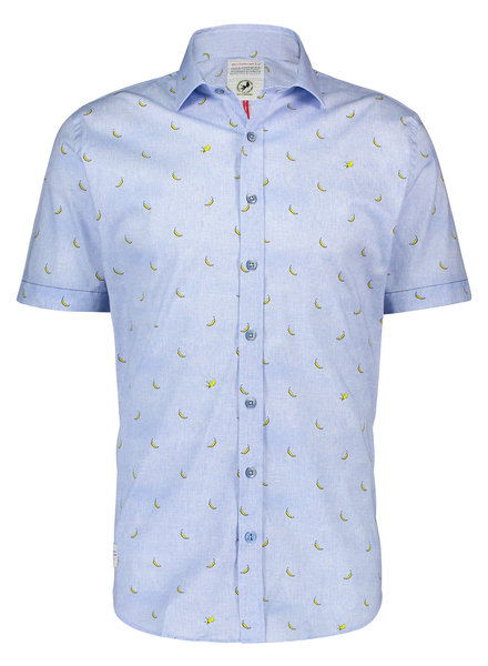 A FISH NAMED FRED Modern Fit Yellow Peppers Shirt