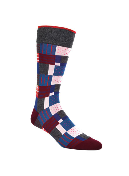 DION Multi Colour Quilted Sock