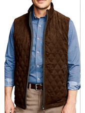 JOHNSTON & MURPHY Reversible Vest Brown/Navy
