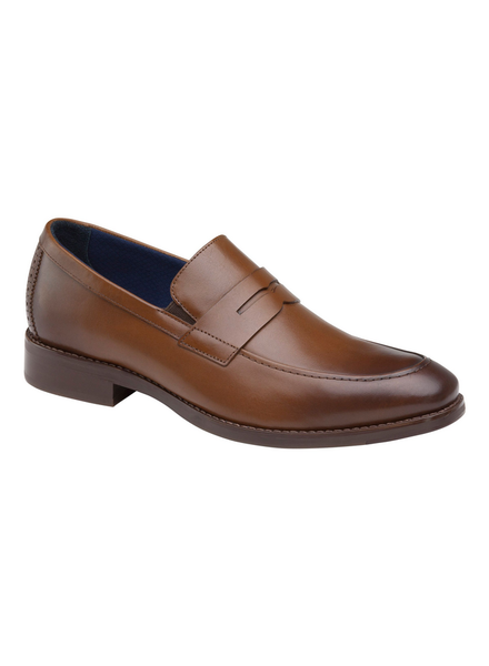 JOHNSTON & MURPHY Full Grain Leather Penny Loafer Brown