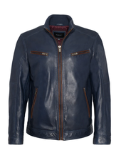 Lamb Leather Navy Jacket