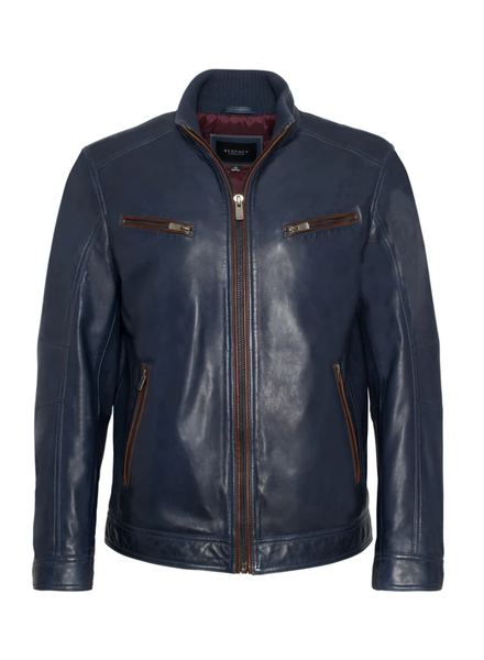 REGENCY Lamb Leather Navy Jacket