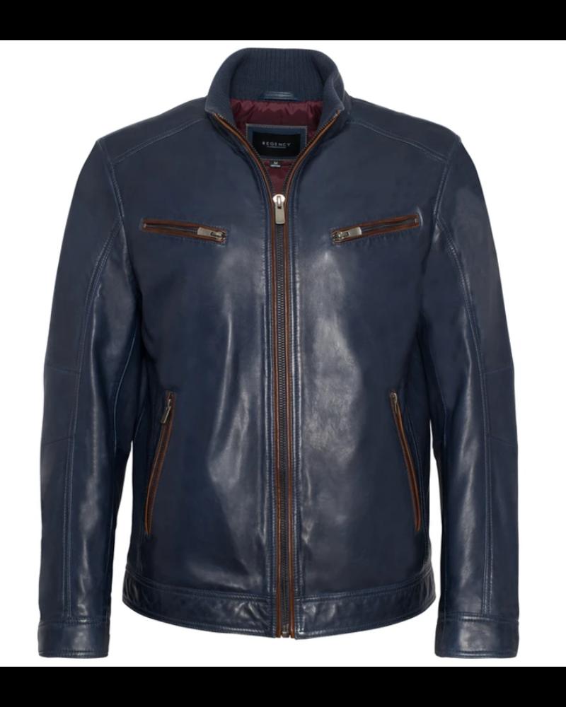 Lamb Leather Navy Jacket