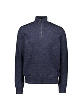 PAUL & SHARK Navy Down Yarn 1/4 Zip Sweater