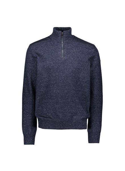 PAUL & SHARK Navy Down Yarn 1/4 Zip Sweater