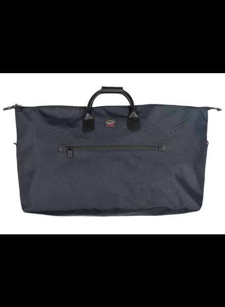 PAUL & SHARK Navy Nylon Overnight Bag
