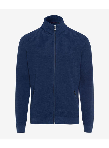 BRAX Wool Cotton Full Zip Sweater