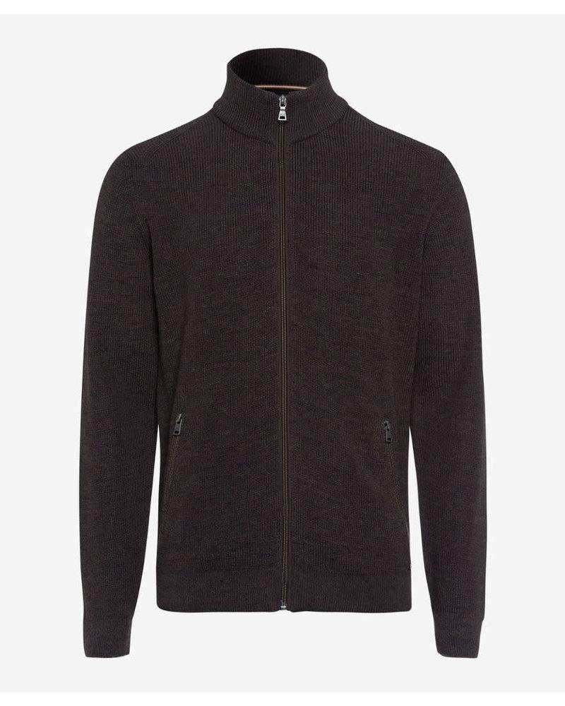BRAX Wool Cotton Full Zip Sweater