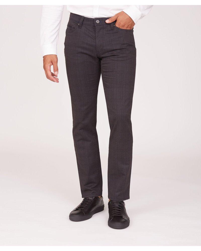 BRAX Modern Fit Charcoal Seaqual Plaid 5 Pocket Pant