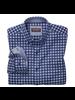 JOHNSTON & MURPHY Classic Fit Navy Gingham Shirt
