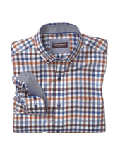 JOHNSTON & MURPHY Classic Fit Tri Colour Gingham Shirt