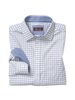 JOHNSTON & MURPHY Classic Fit XC4 White with Blue Block Shirt