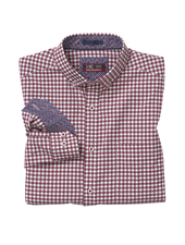JOHNSTON & MURPHY Classic Fit XC4 Red Gingham Shirt