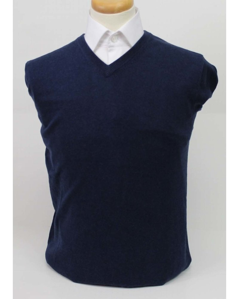 BLU BY POLIFRONI Cotton V Neck Sweater