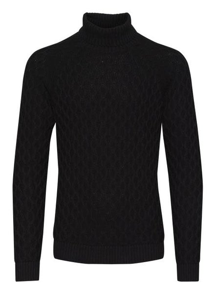 BLEND Black Cable Turtleneck Sweater