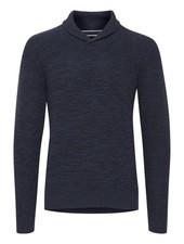 BLEND Navy Shawl Collar Sweater