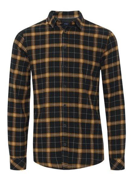BLEND Slim Fit Flannel Plaid Shirt