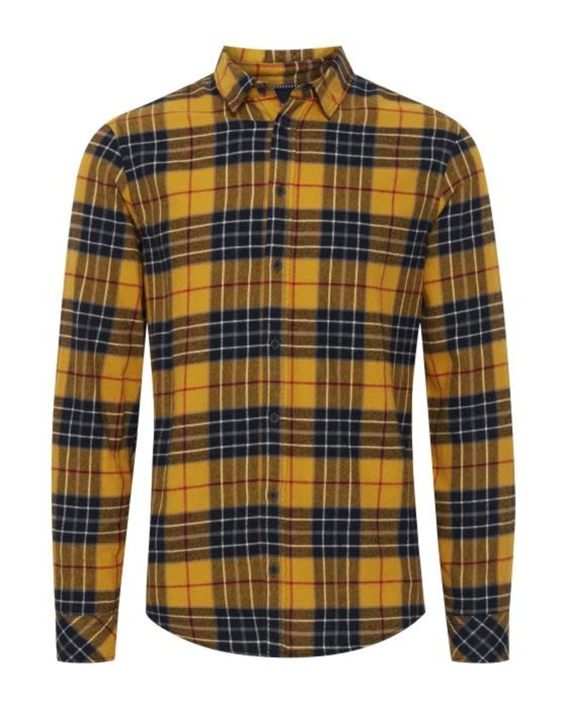BLEND Slim Fit Flannel Plaid Shirt