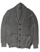 BENSON Brown Shawl Collar Cardigan