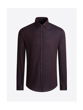 BUGATCHI UOMO Modern Fit 4 Way Stretch Shirt