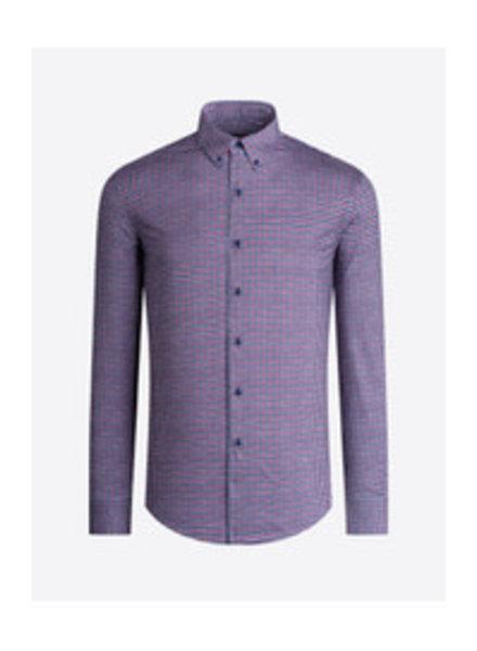 BUGATCHI UOMO Modern Fit Ooh Cotton Plaid Shirt
