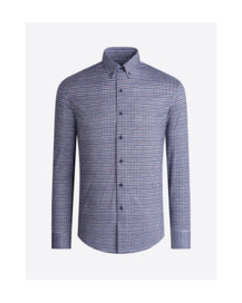 BUGATCHI UOMO Modern Fit Ooh Cotton Plaid Shirt