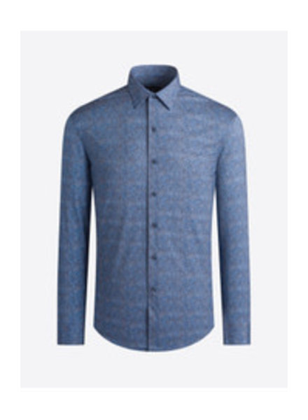 BUGATCHI UOMO Modern Fit Ooh Cotton Denim Neat Shirt
