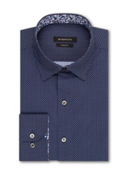 BUGATCHI UOMO Classic Fit Navy Neat Pattern Shirt