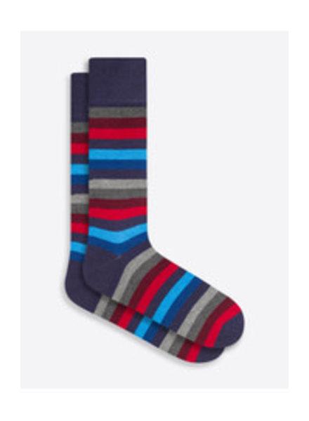BUGATCHI UOMO Cotton Cashmere Striped Sock