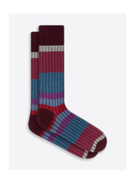 BUGATCHI UOMO Cotton Wide Striped Sock