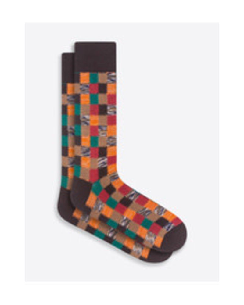 BUGATCHI UOMO Cotton Patchwork Sock