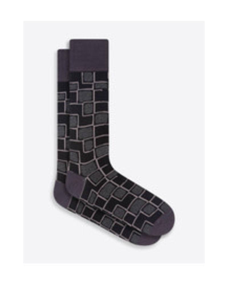 BUGATCHI UOMO Cotton Big Pattern Sock