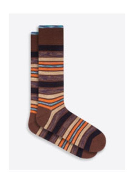 BUGATCHI UOMO Cotton Multi Stripe Sock