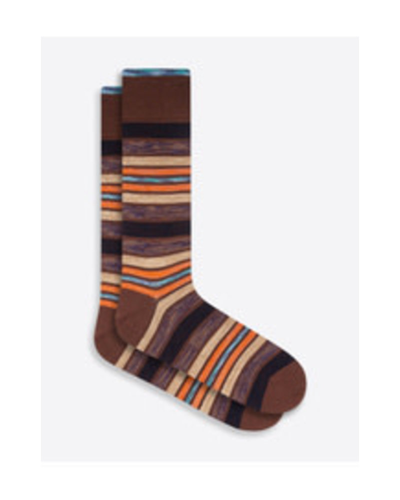 BUGATCHI UOMO Cotton Multi Stripe Sock